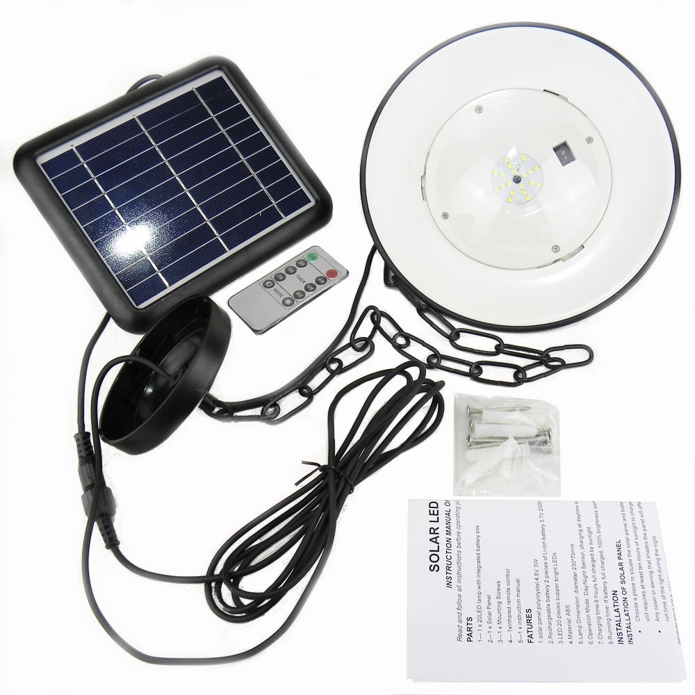 Solar Powered Shed Light With Remote Control Timer