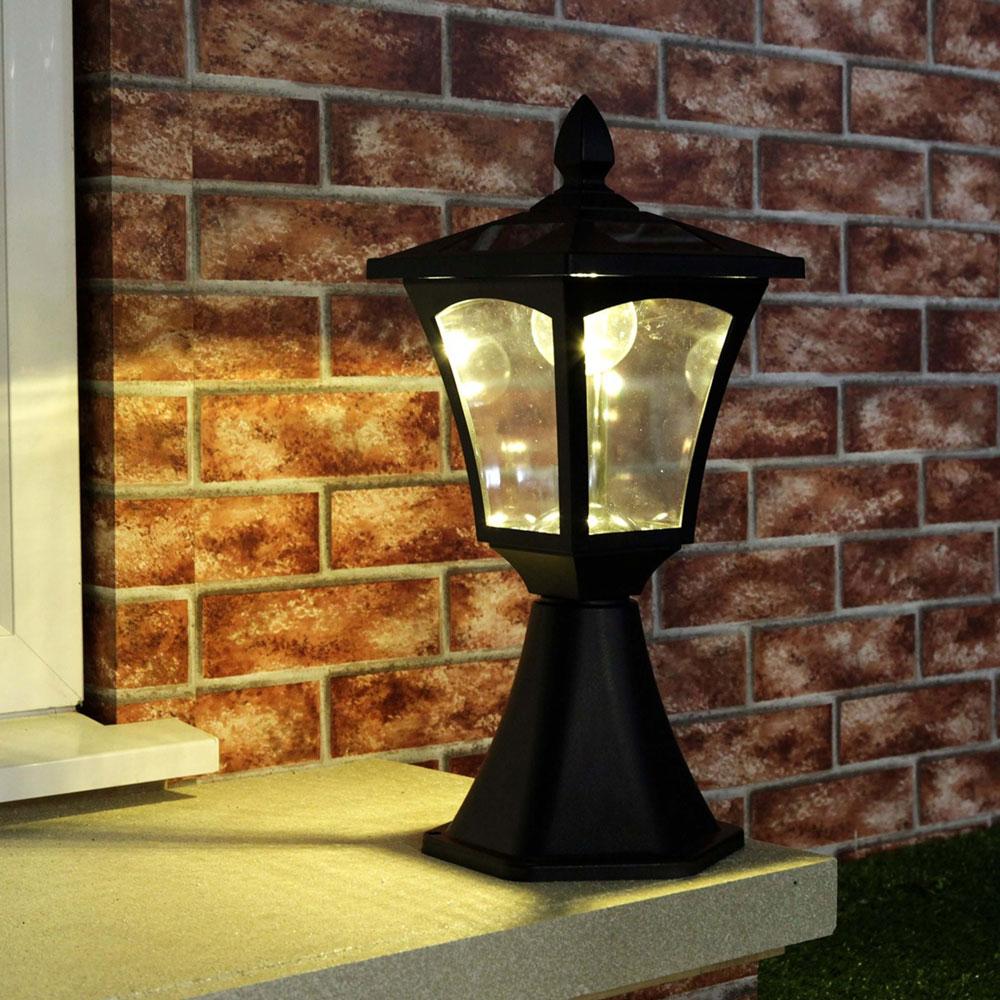 Solar Pillar Lights 6 Leds
